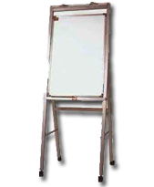 Whiteboard with Flipchart Pad Holder