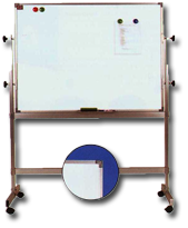 Whiteboards with Reversible Stand & Rollers